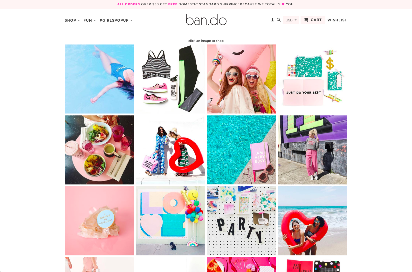 bando shoppable instagram