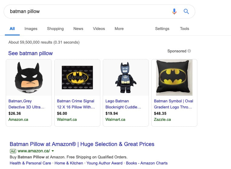 batman pillow example