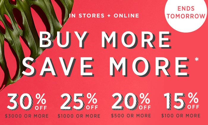 buy more save more sales promotion from west elm