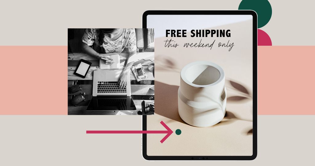 bfcm ad for ceramic with free shipping