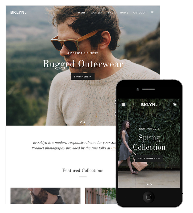 13 stunning responsive ecommerce website templates for your brooklyn is a responsive shopify theme that adjusts to look great on all screen resolutions resize your browser window to see how it adjusts pronofoot35fo Images