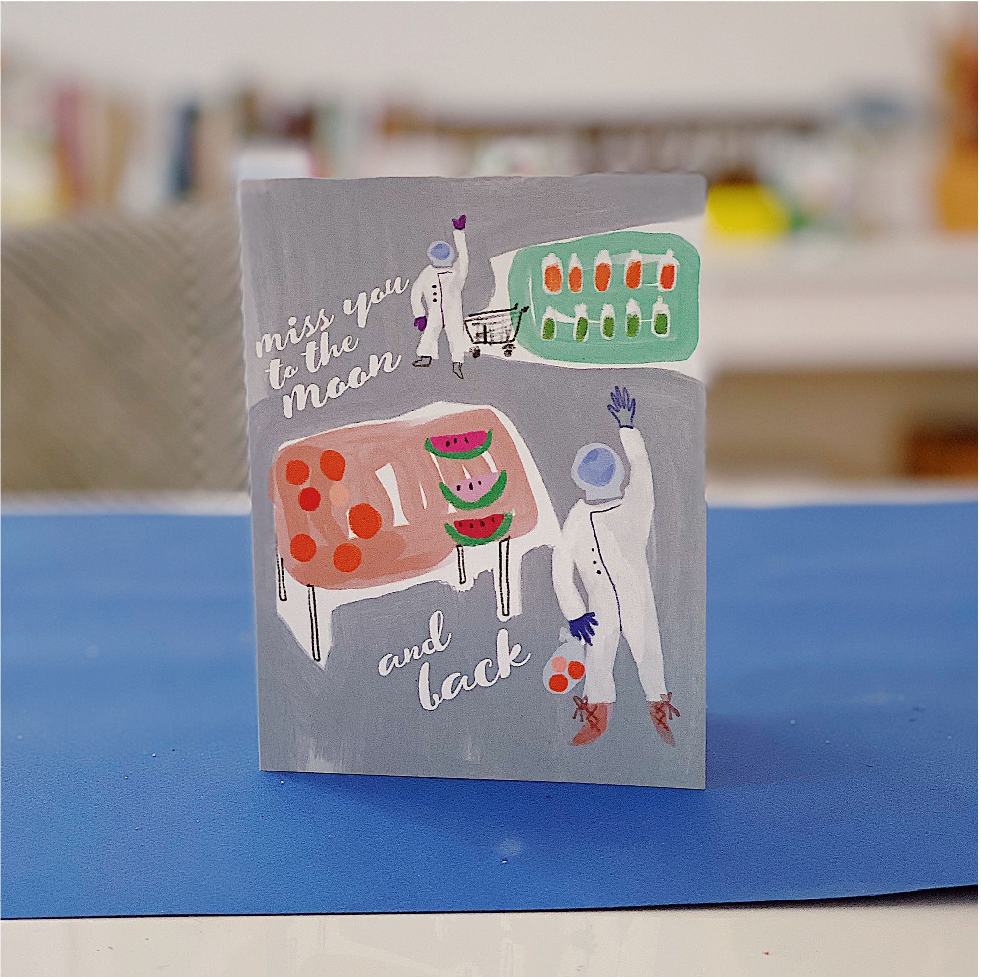 An illustrated greeting card
