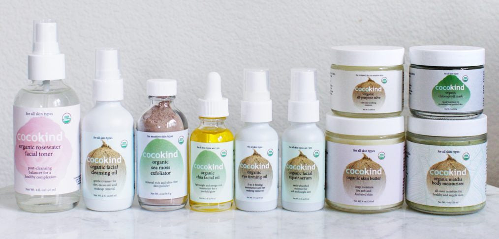 Cocokind's lineup of organic, all-natural products