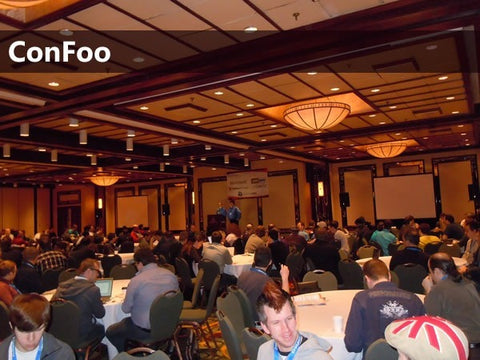 Photo of a large ConFoo presentation room