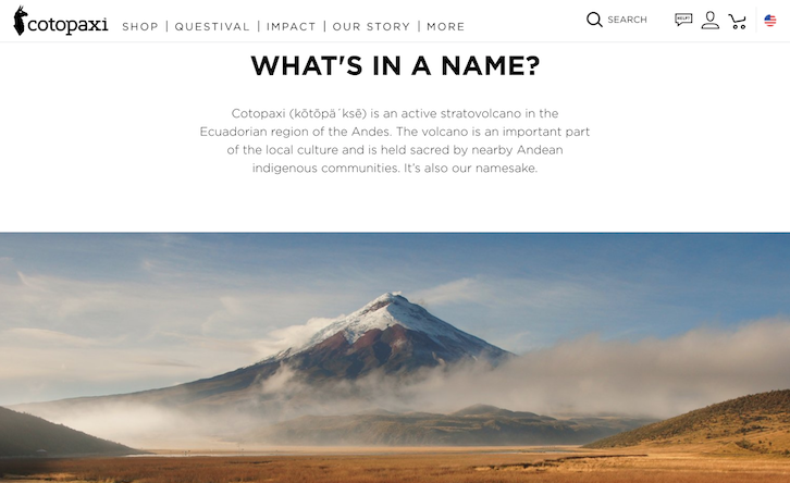 Cotopaxi store name
