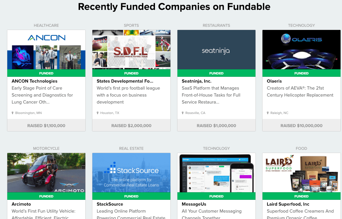 fundable a crowdfunding site for rewards or equity