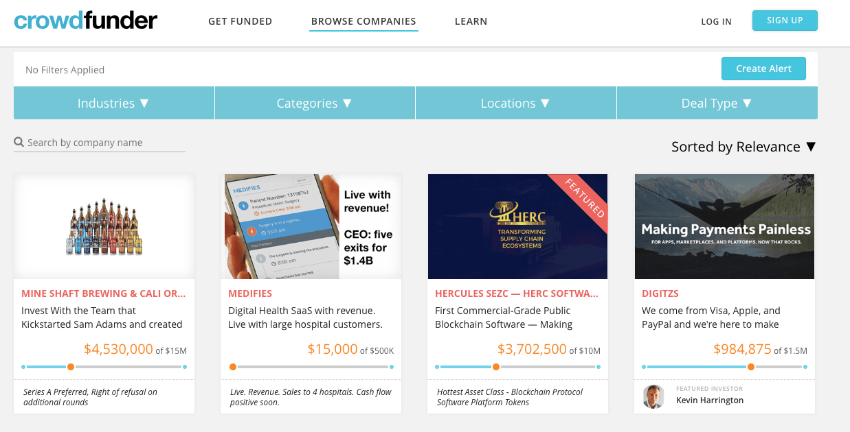crowdfunder an equity crowdfunding site
