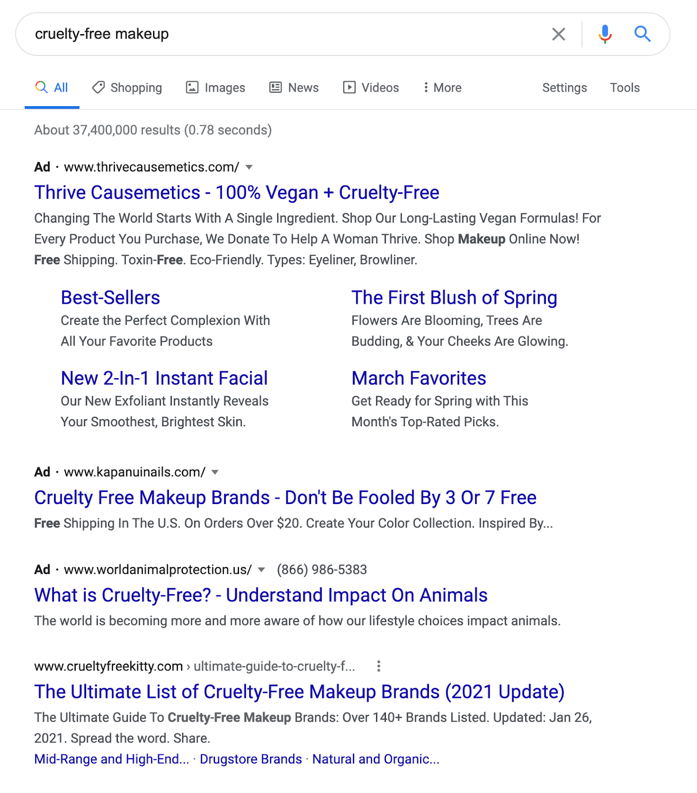 Cruelty-free makeup search