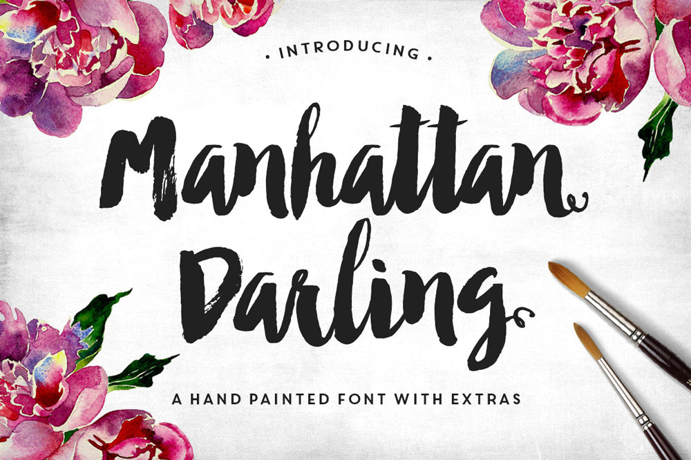 2. Use Brush Hand Lettering for Bold Headers