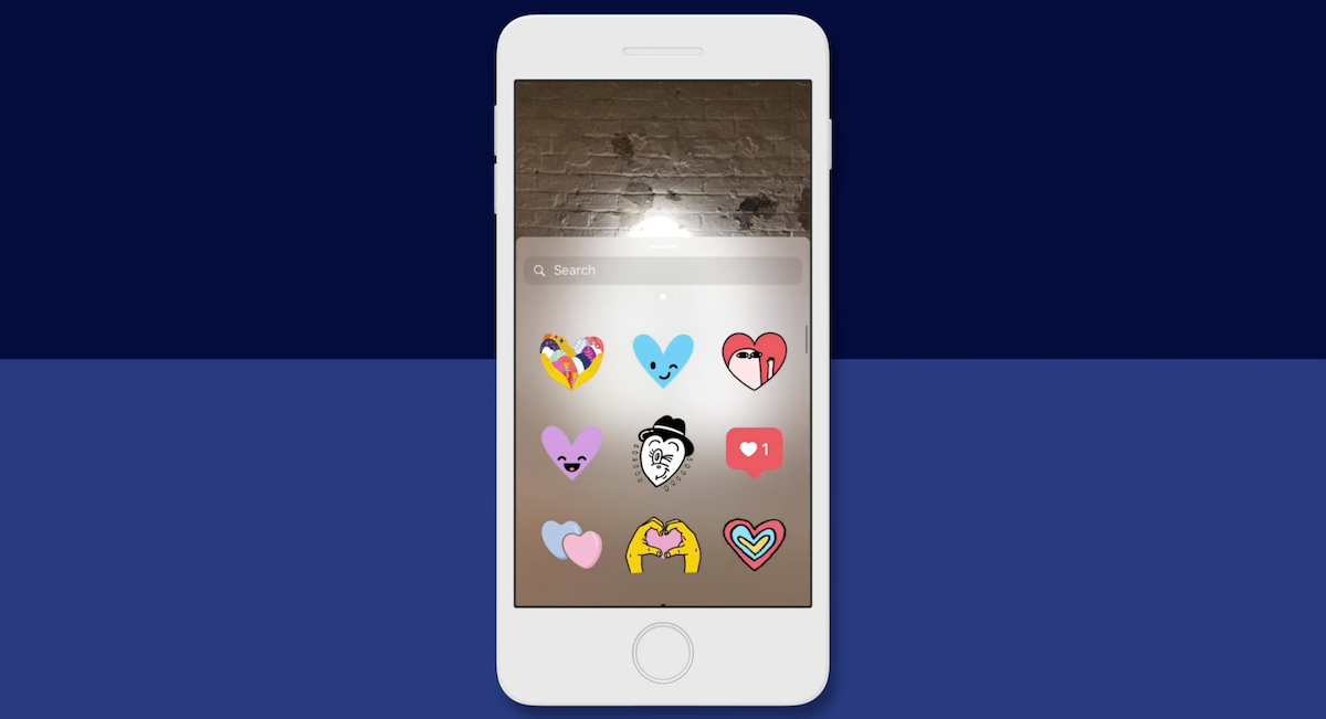 Example of product stickers in Instagram Stories.