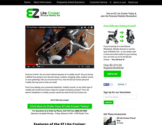 EZ Lite Cruiser  (Health & Beauty)