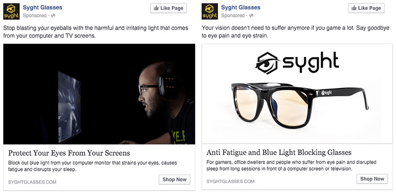 Facebook retargeting ads