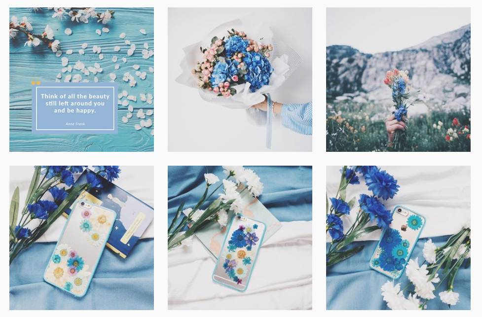 Images from Floral Neverland's Instagram feed
