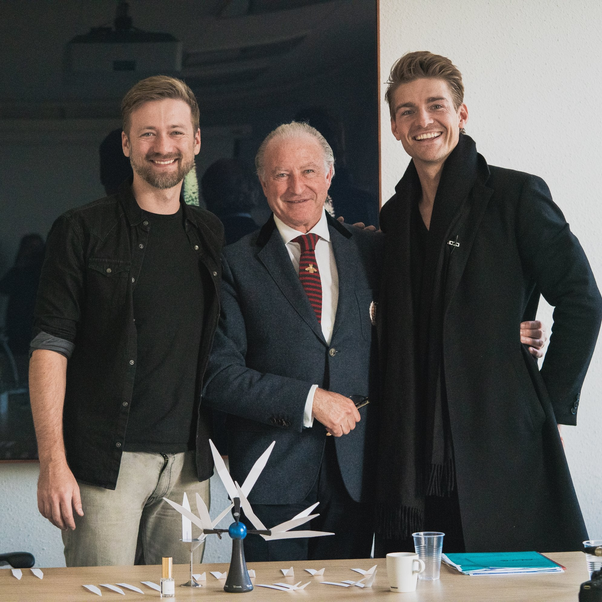 Kamil Banc (left), Alberto Morillas, (center), and Jeremy Banc (right) of Fragrance One.
