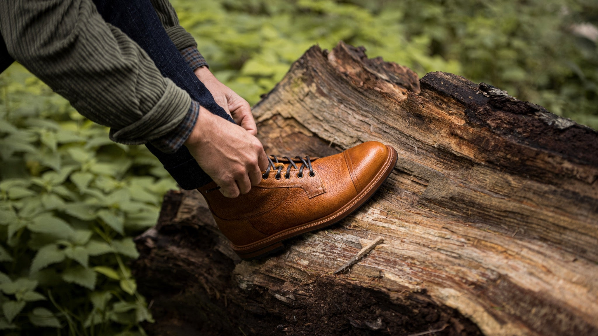 A pair of boots perfect for a hike in the country side by Velasca.