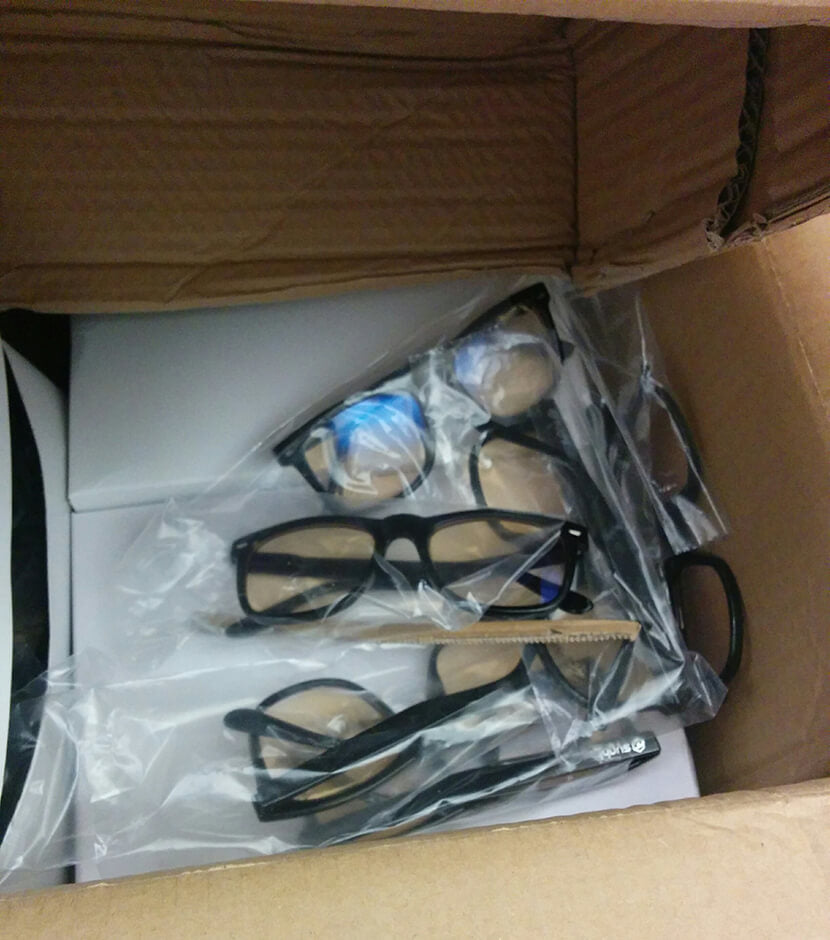 Syght Glasses package from China