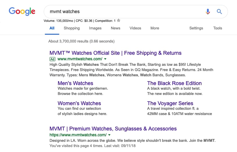 google branded search campaign
