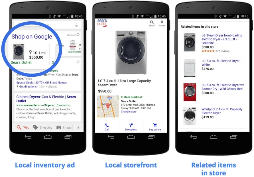 google shopping local inventory ads example