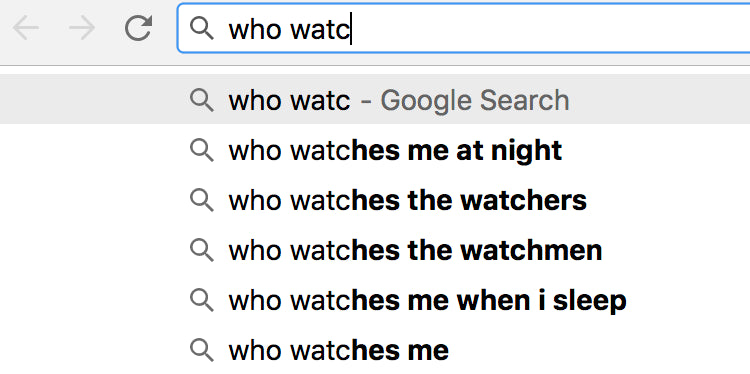 Google search suggest / autocomplete