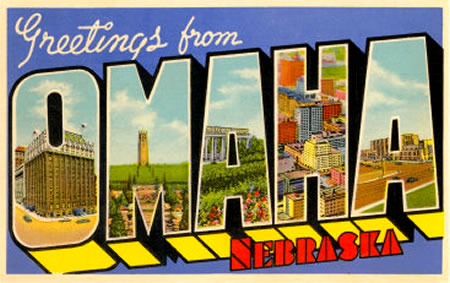 'Greetings from Omaha, Nebraska' postcard