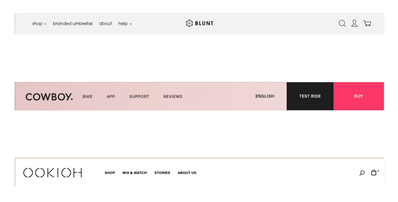 Header examples