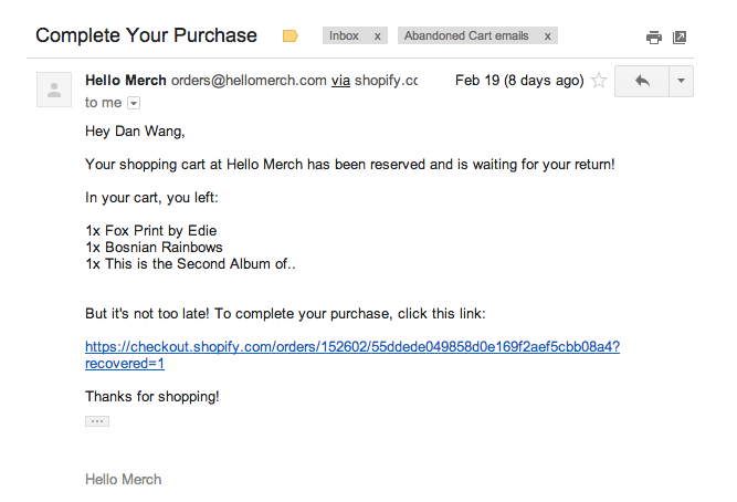 13 Amazing Abandoned Cart Emails (And What You Can Learn From Them)