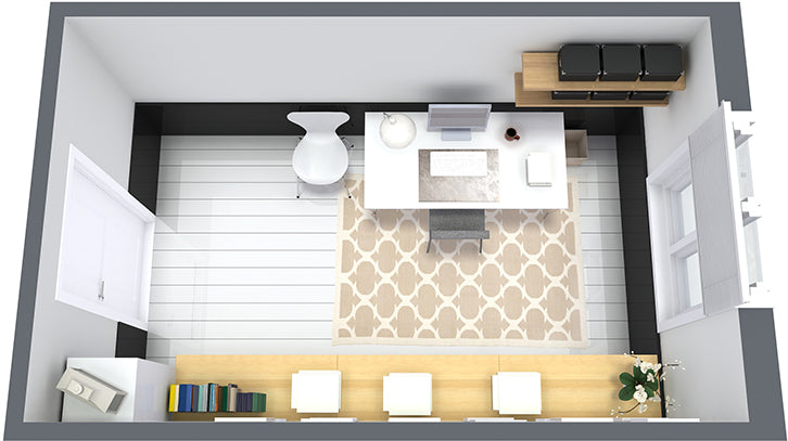 Home Office 3D Layout