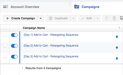 sequential retargeting campaigns