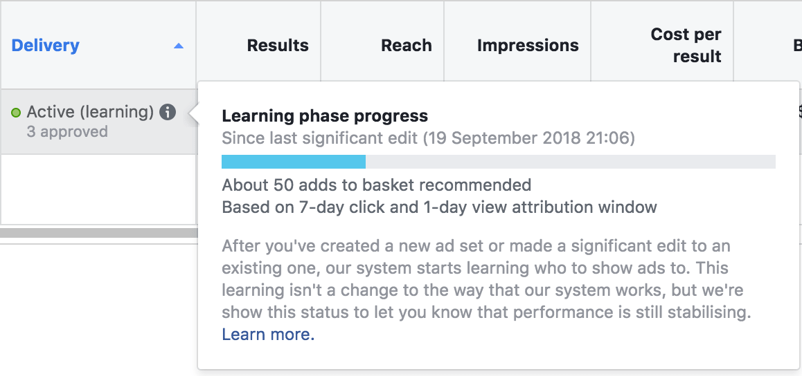 scaling facebook ads by watching your learning phase