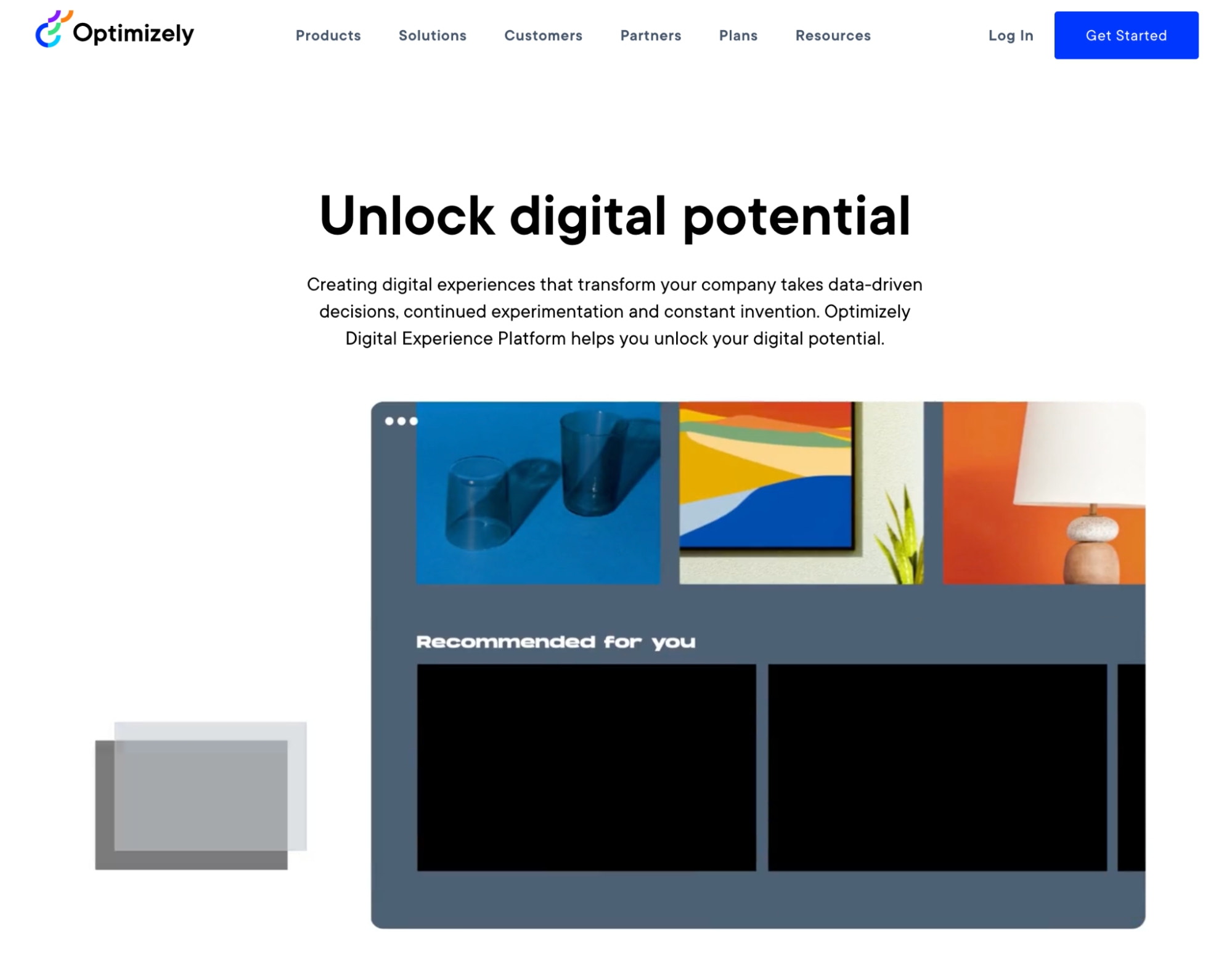 optimizely homepage
