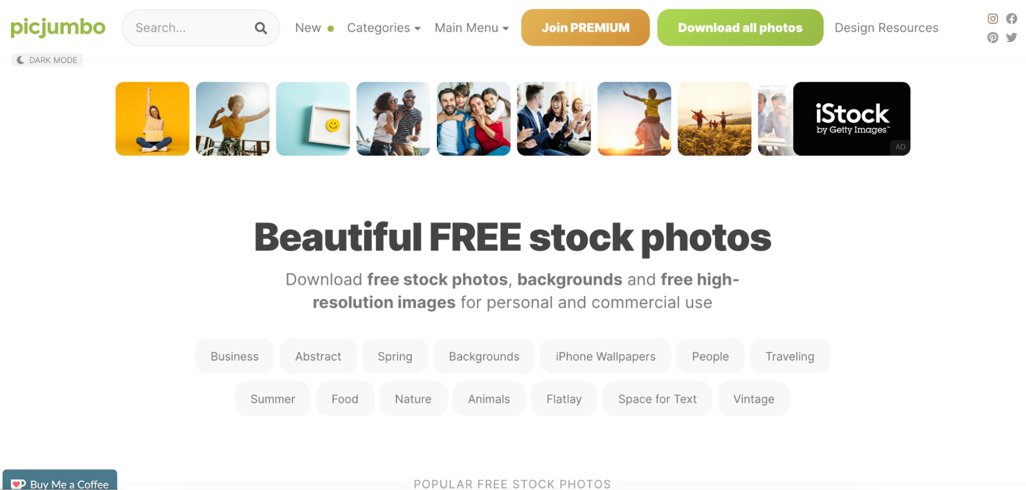 Picjumbo free stock photography site