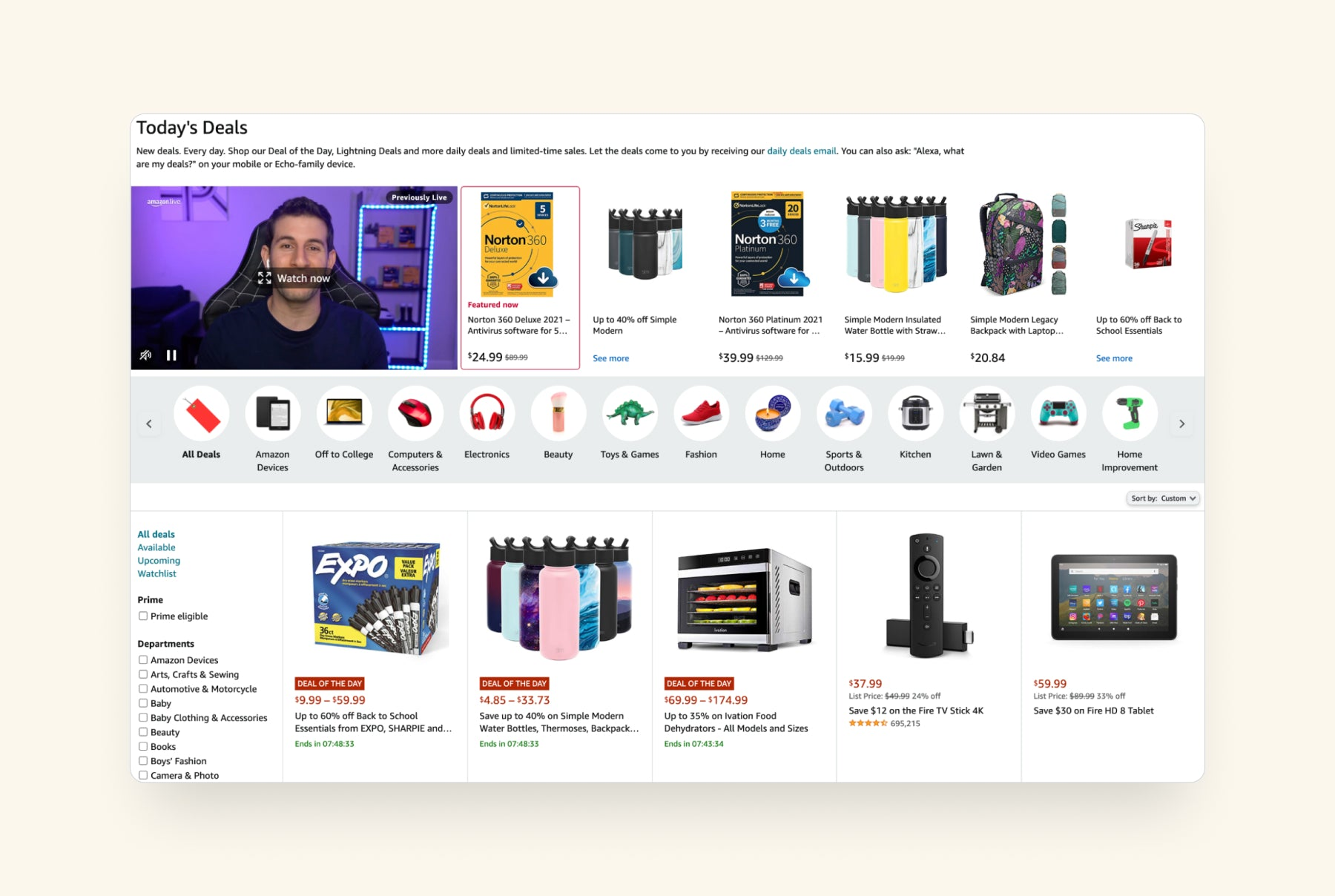 today's deals page
