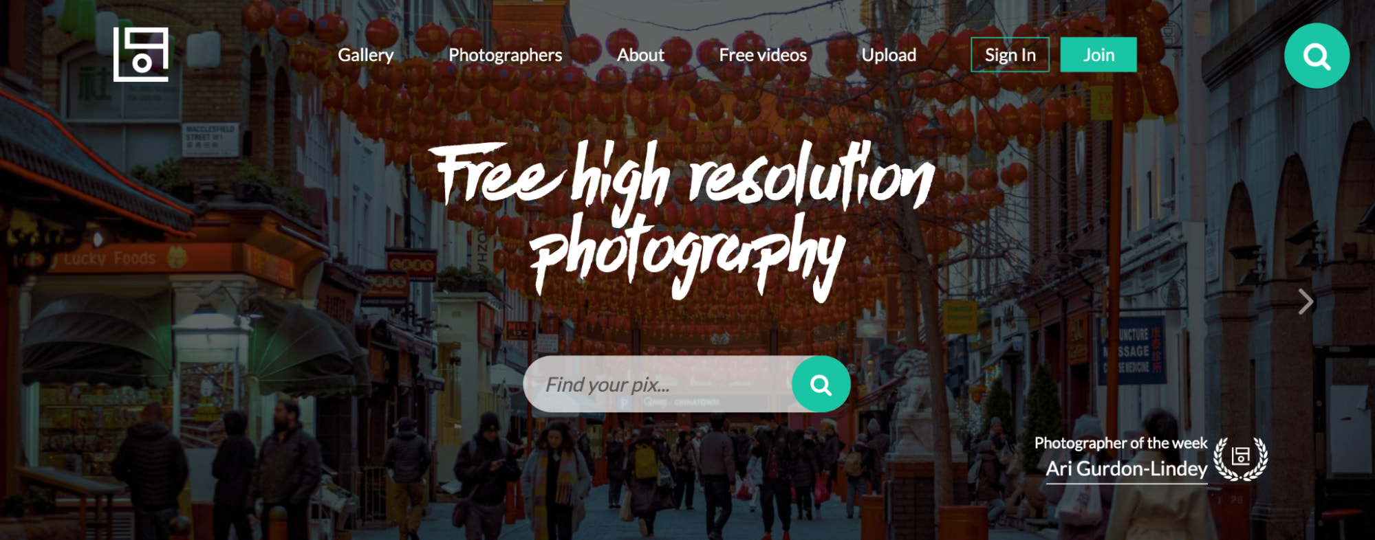 Life of pix free stock photo site homepage