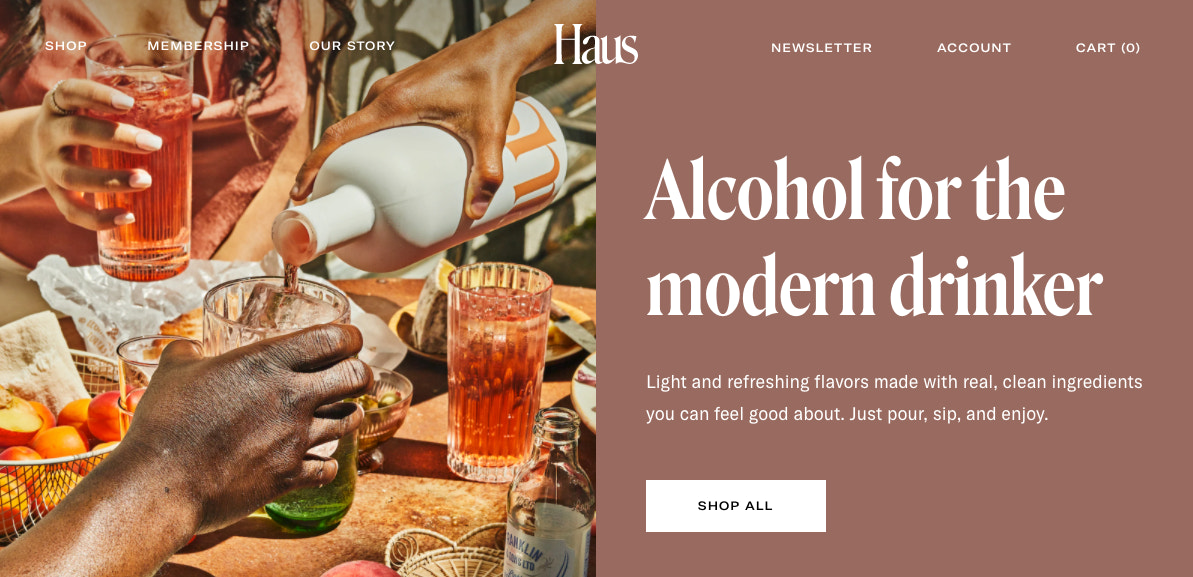 haus-cover-photo-featuring-products-caption-reads-alcohol-for-the-modern-drinker