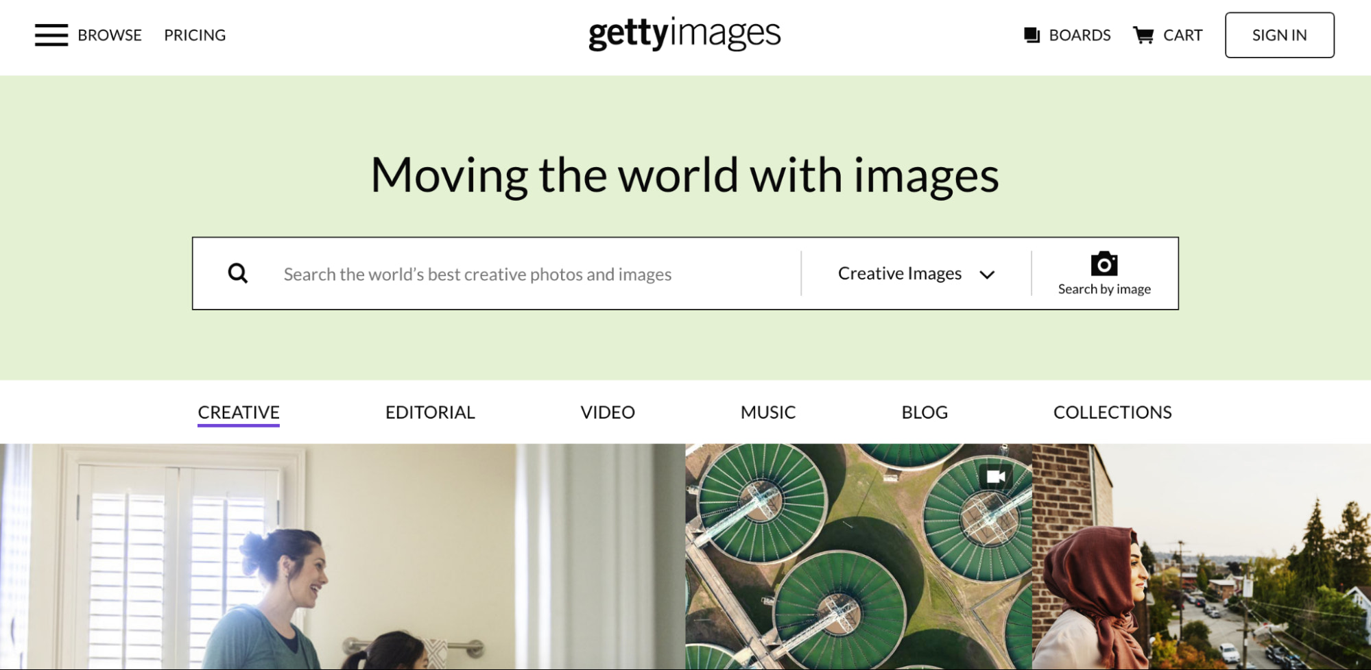 Getty images stock photo website