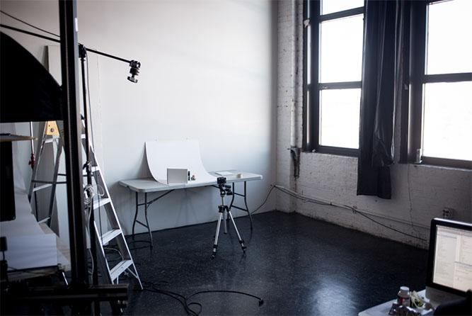 at-home photography studio set up