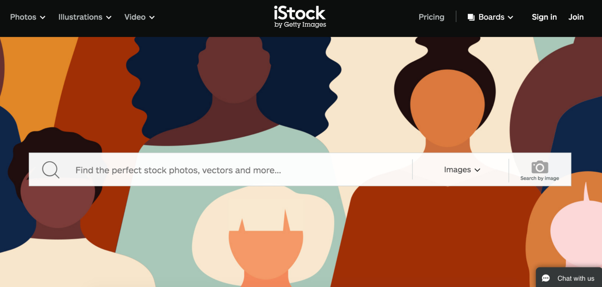 iStock free stock photo site homepage