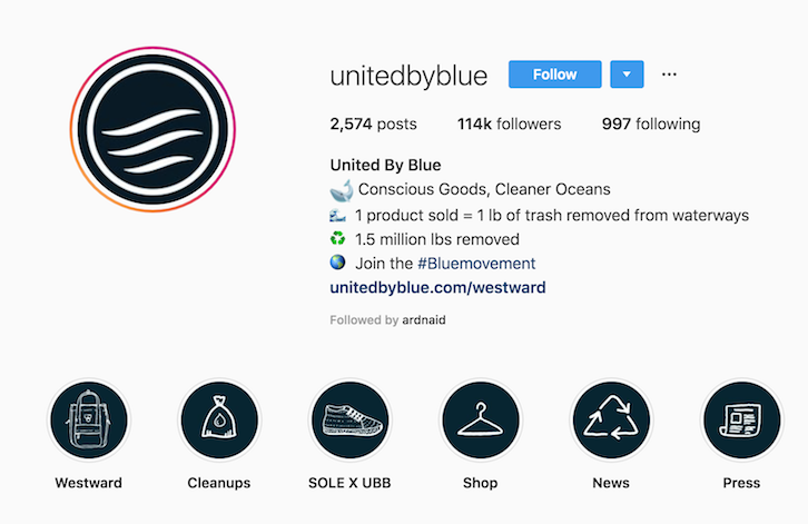 united by blue instagram bio