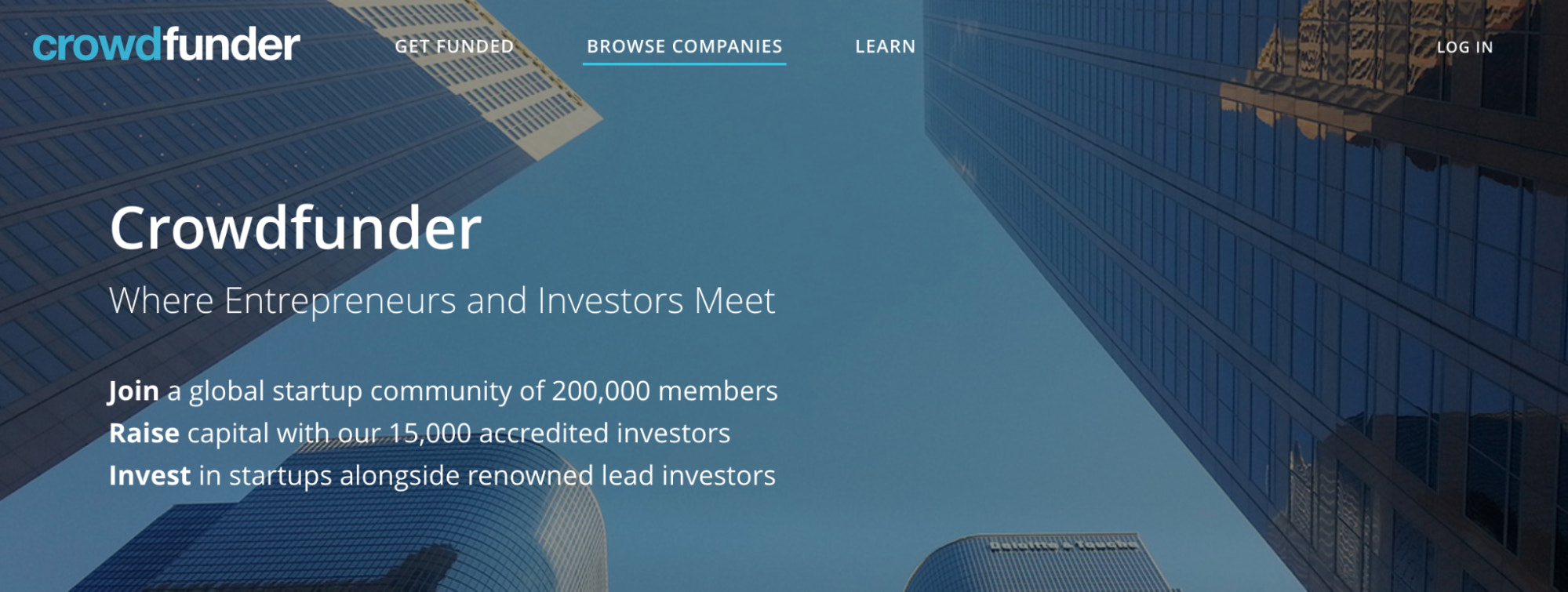 crowdfunder crowdfunding site for seed-stage companies