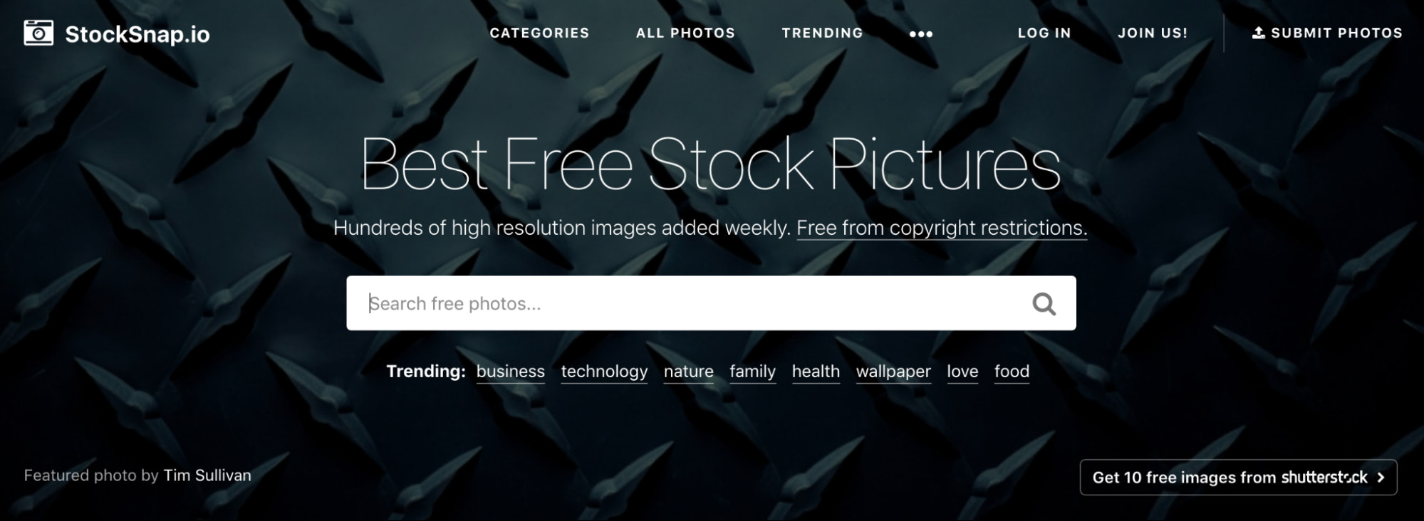 stocksnap.io free stock photography site