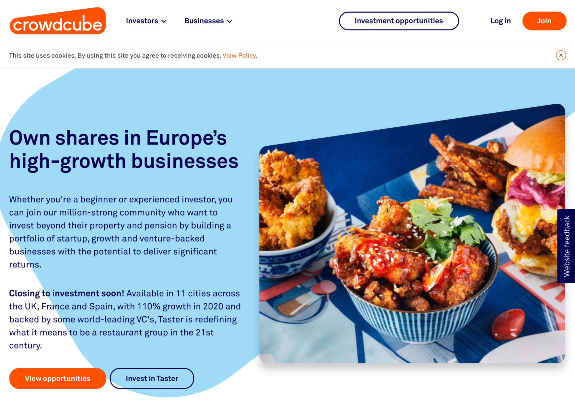 crowdcube crowdfunding for UK and Europe