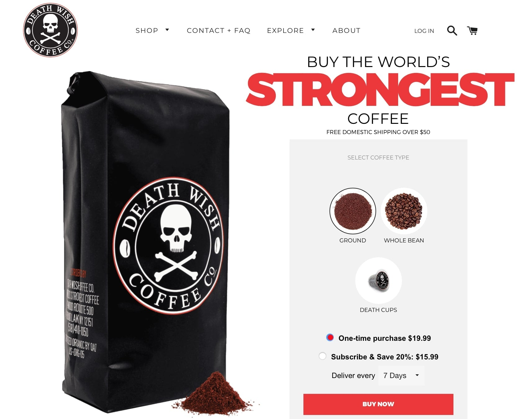 death wish coffee  unique selling proposition
