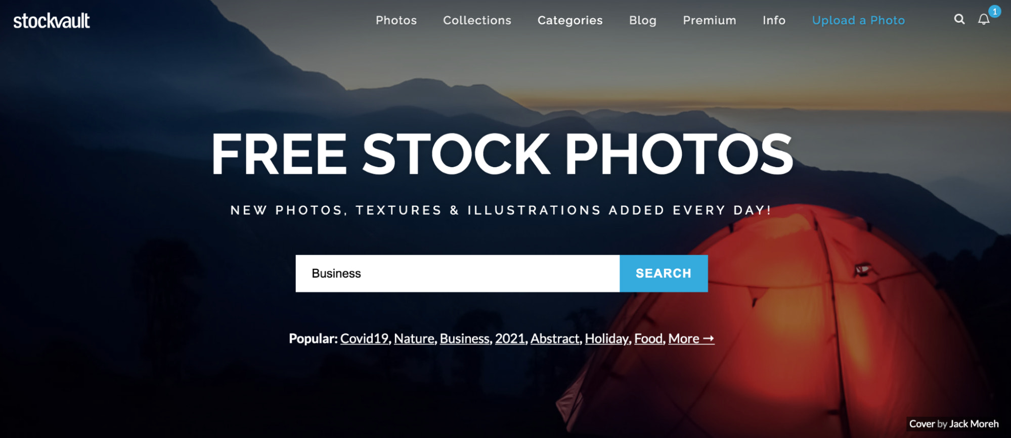 stockvault free stock photo site homepage