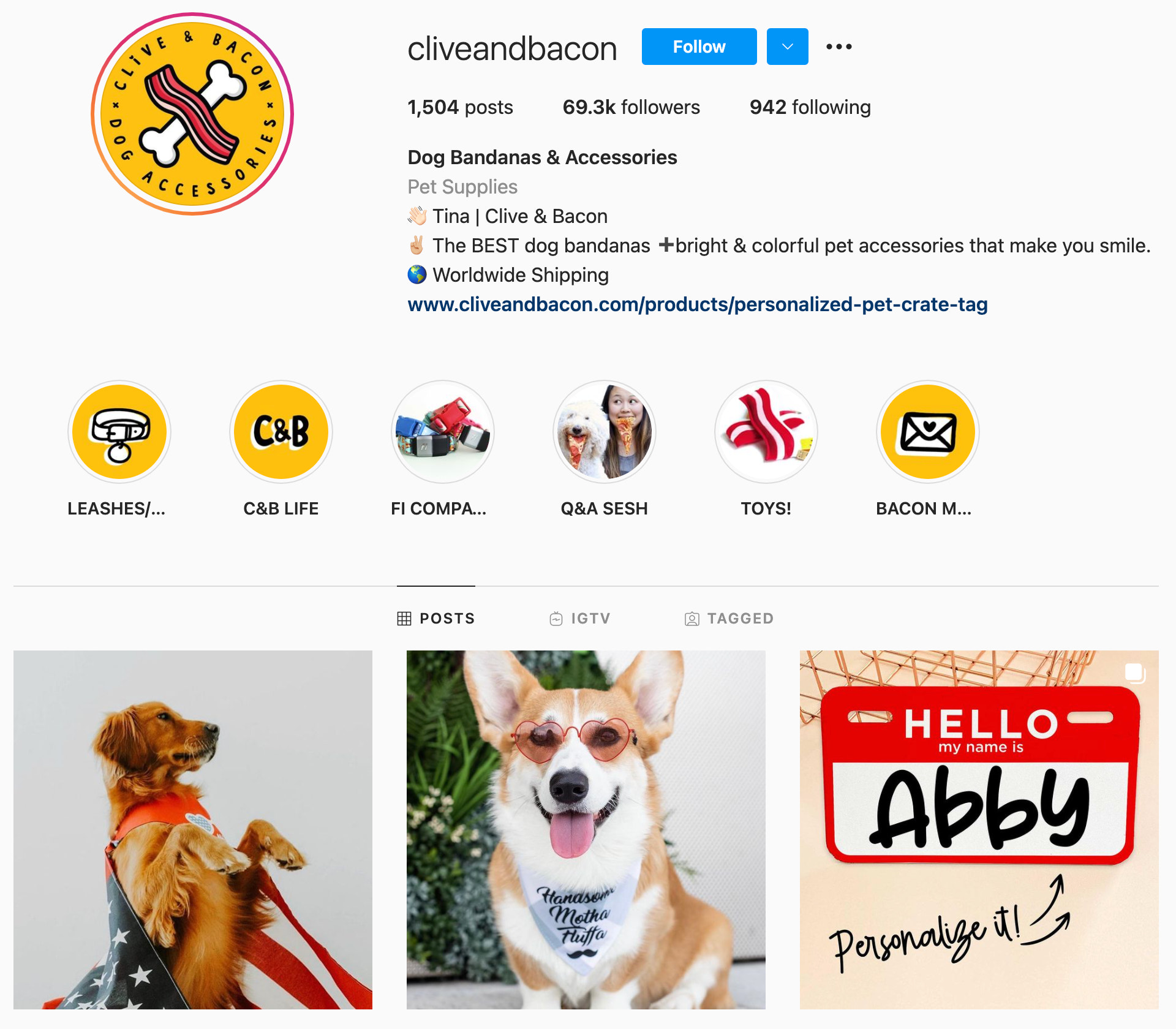 clive and bacon instagram