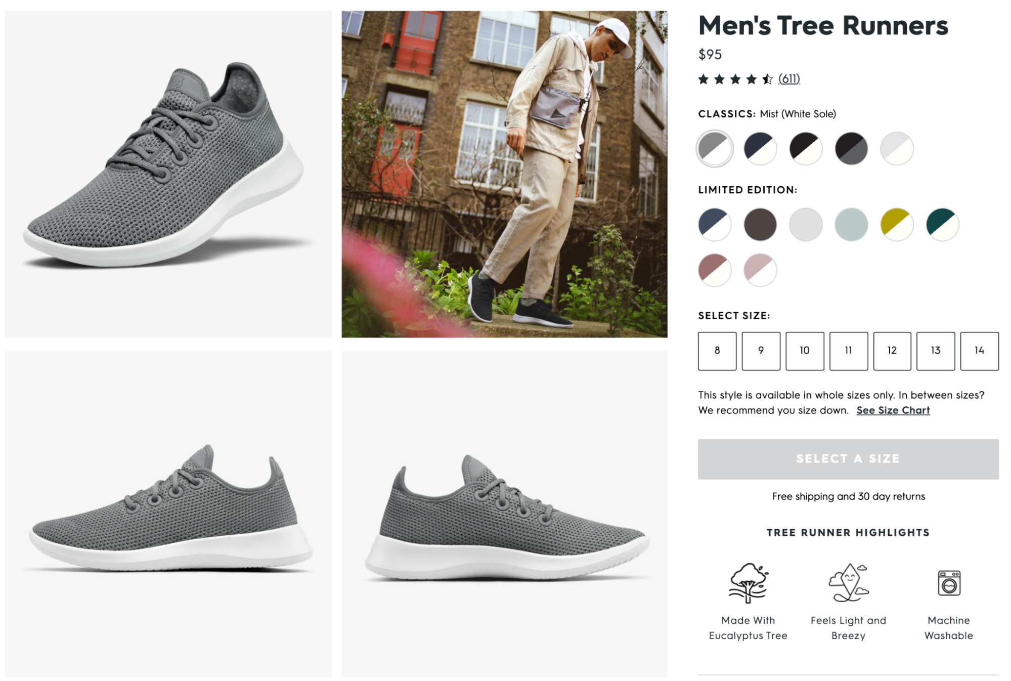 lifestyle image example by Allbirds