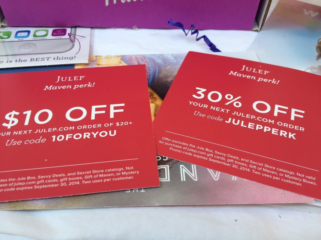 Julep post purchase discount example