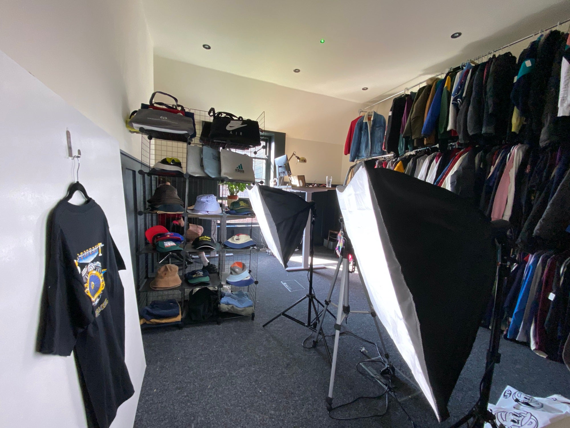 An in-house portrait studio for a vintage brand