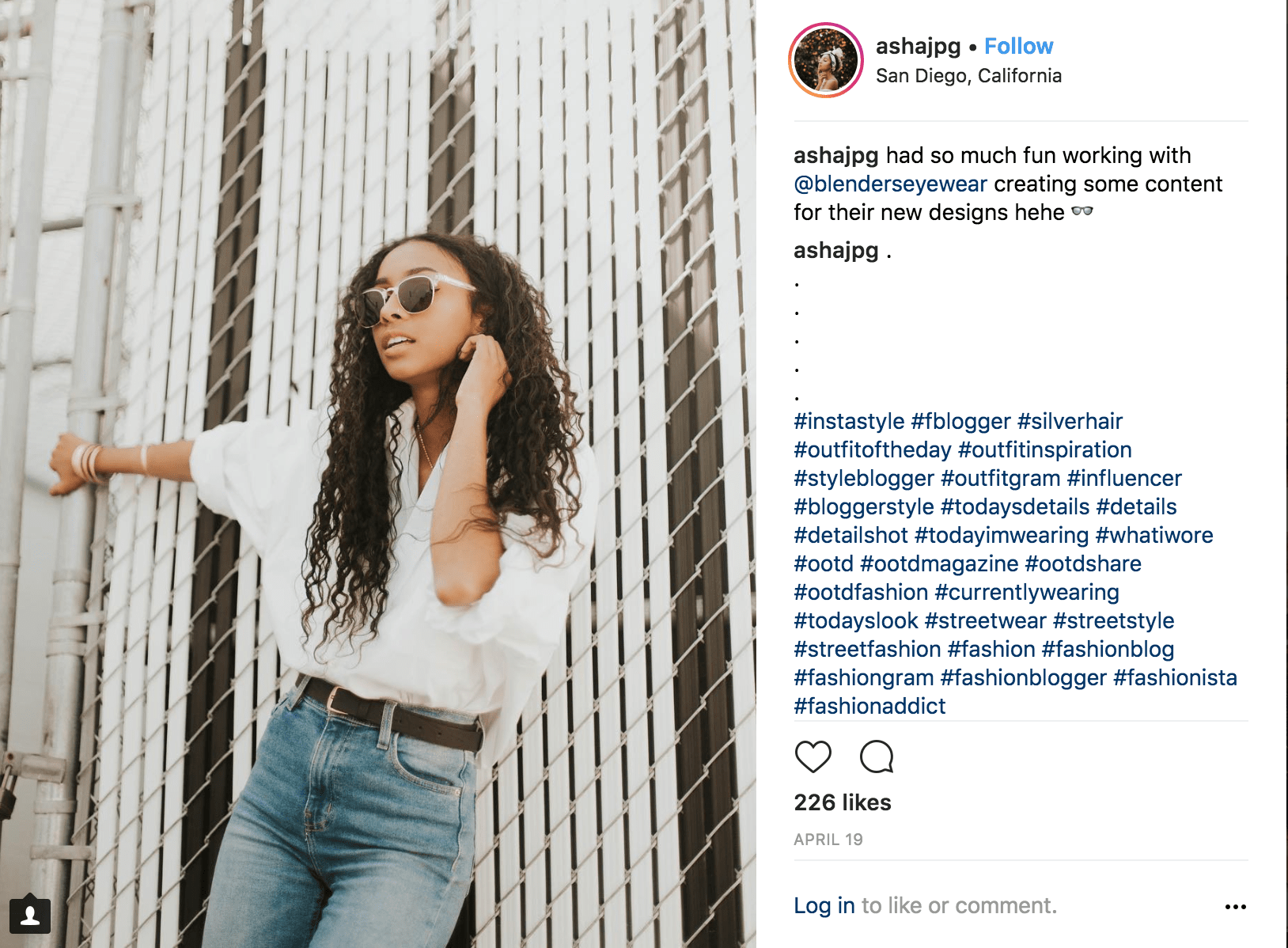 instagram influencer giving a shout out