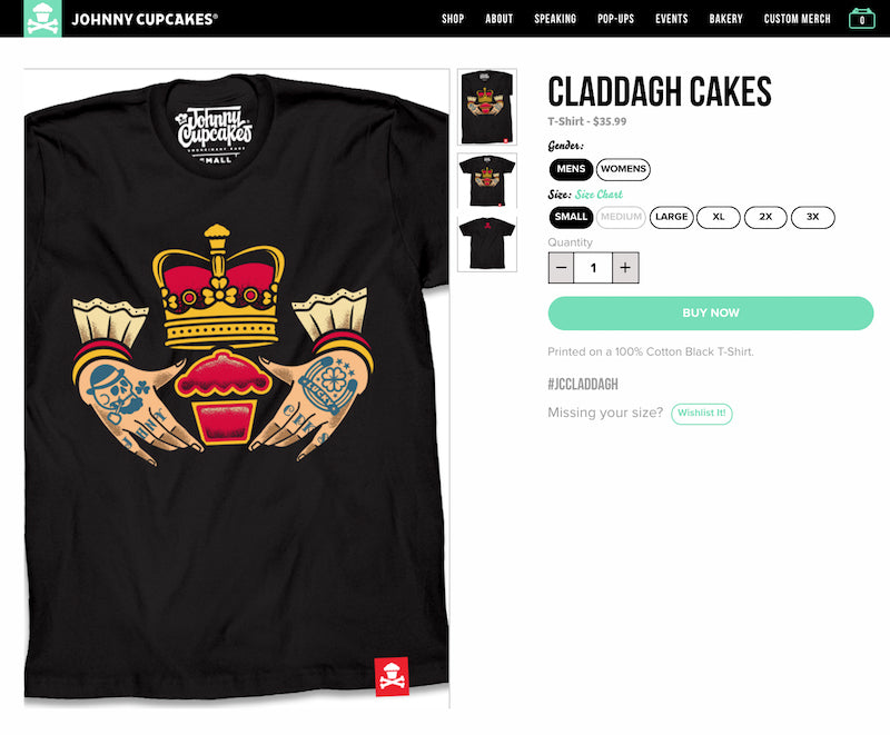 2f7df2454e7 Any product that has to do with or likens itself to sweets is in my good  books. Johnny Cupcakes is a playful brand