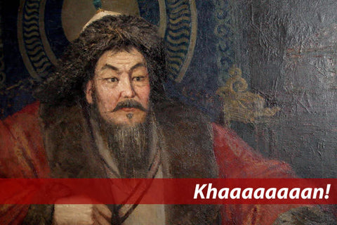 """Khaaaan!"": Painting of Ghengis Khan"